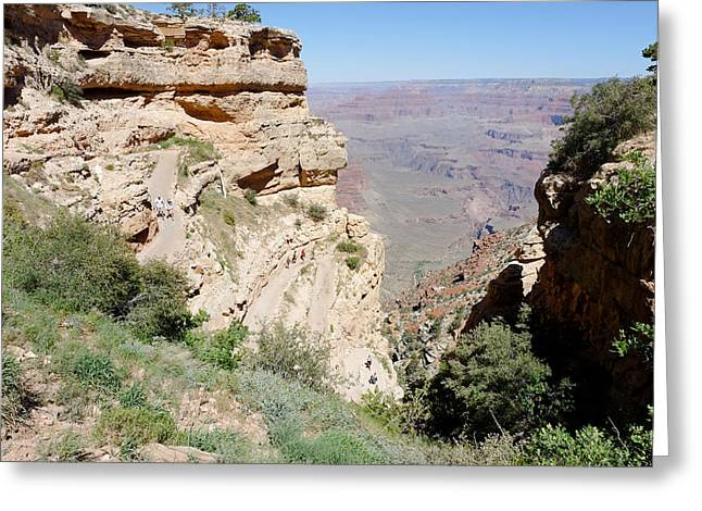 South Kaibab Trail Greeting Cards - Top of the South Kaibab Trail Greeting Card by Julie Niemela