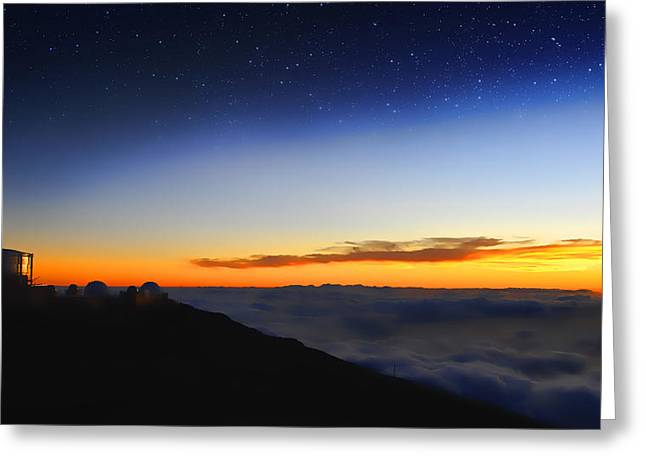 Observatory Greeting Cards - Top Of The World Greeting Card by Peter Chilelli