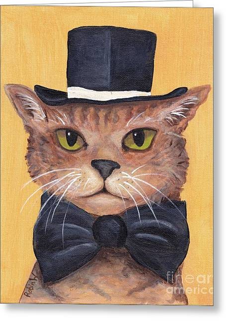 Tuxedo Greeting Cards - Tophat and Tail Greeting Card by Robin Wiesneth