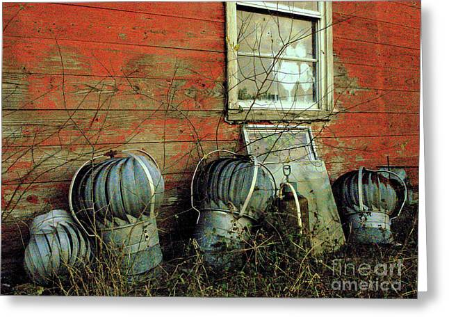 Tin Roof Greeting Cards - Toppled Crowns Greeting Card by Joe Jake Pratt