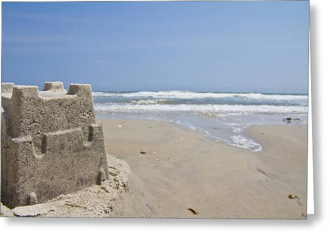 Sand Castles Greeting Cards - Topsail Castle Greeting Card by Betsy C  Knapp