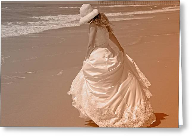 Topsail Island Greeting Cards - Topsail Gown Greeting Card by Betsy A  Cutler