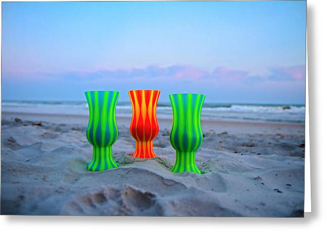 Glass Cup Greeting Cards - Topsail Hurricane Glasses Greeting Card by Betsy C  Knapp