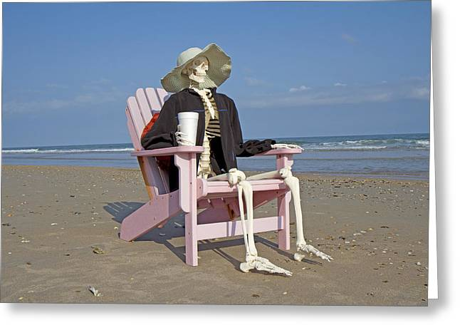 Topsail Island Greeting Cards - Topsail Island Beach Pirate Greeting Card by Betsy A  Cutler