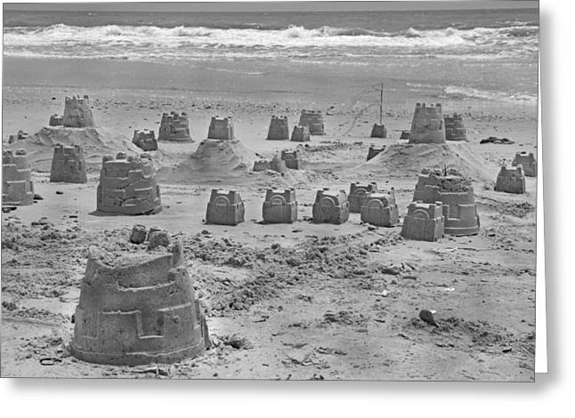 Topsail Island Sandcastle Greeting Card by Betsy C Knapp