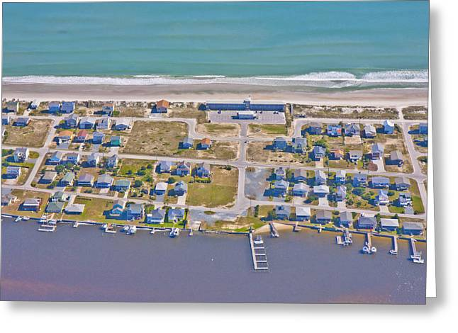 Topsail Island Greeting Cards - Topsail Island Sea Vista Motel Greeting Card by Betsy A  Cutler