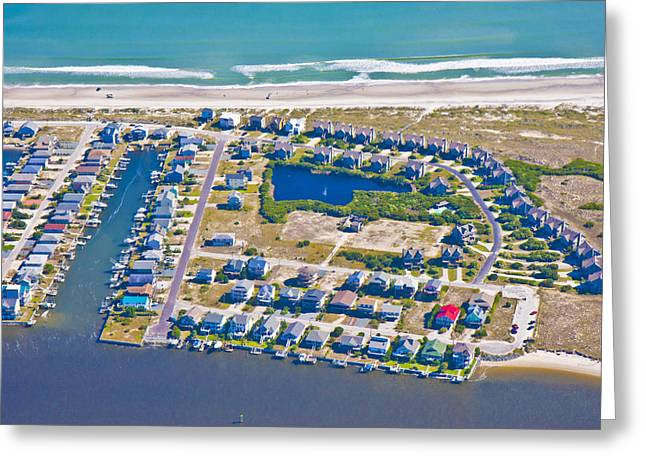Topsail Island Greeting Cards - Topsail Island South End II Greeting Card by Betsy A  Cutler