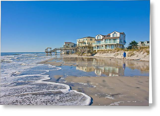 Topsail Island Greeting Cards - Topsail North End Greeting Card by Betsy C  Knapp