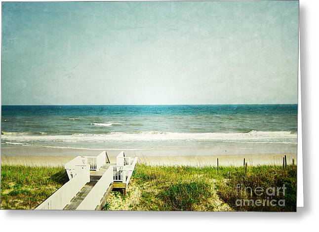 Topsail Island Greeting Cards - Topsail Perfection Greeting Card by Andrea Hazel Ihlefeld