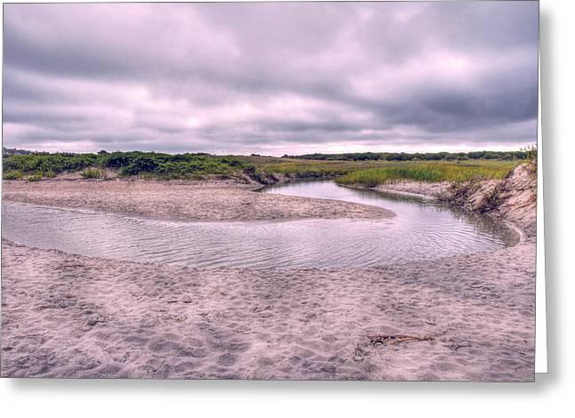 Tidal River Greeting Cards - Topsail Serenity  Greeting Card by Betsy C  Knapp