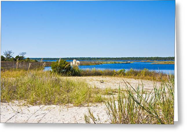 Topsail Island Greeting Cards - Topsail Sound Greeting Card by Betsy C  Knapp