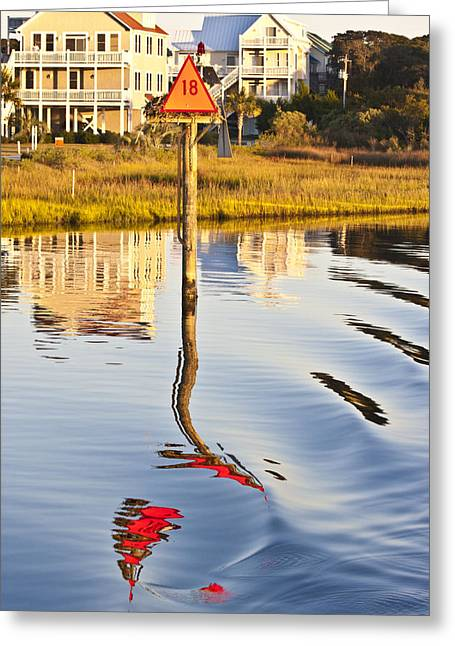 Topsail Island Greeting Cards - Topsail Sound Sunset Greeting Card by Betsy A  Cutler