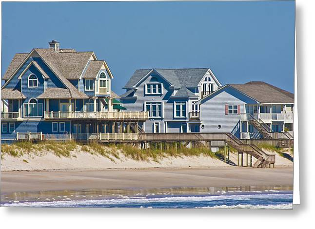 Topsail Island Greeting Cards - Topsail View Greeting Card by Betsy A  Cutler