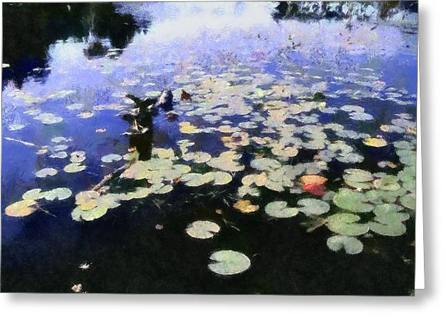 Lilly Pad Greeting Cards - Torch River Water Lilies 3.0 Greeting Card by Michelle Calkins