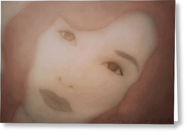 Tori Amos Greeting Cards - Tori Amos Greeting Card by Sacred  Muse