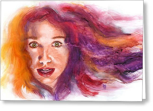 Tori Amos Greeting Cards - Tori Rainbow Greeting Card by Ken Meyer jr