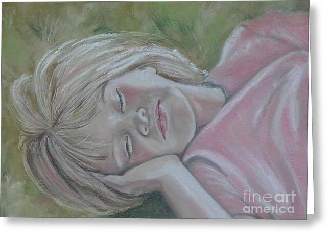 Glowing Pastels Greeting Cards - Tori Summer Dreamin Greeting Card by Sandra Valentini