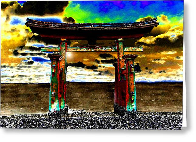 Torii Greeting Cards - Torii Sunrise Greeting Card by David Lee Thompson
