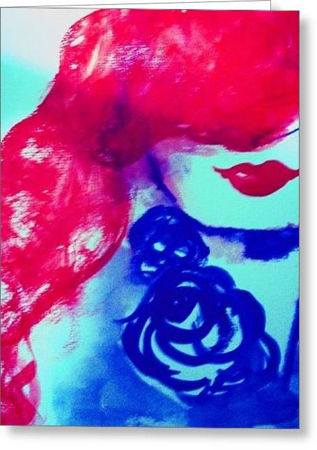 Tori Amos Greeting Cards - Toris mouth Greeting Card by Karen Steffani