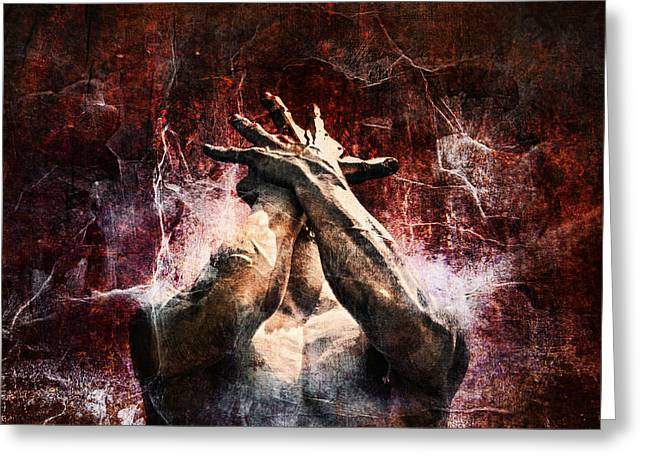 Haze Digital Art Greeting Cards - Torment Greeting Card by Andrew Paranavitana