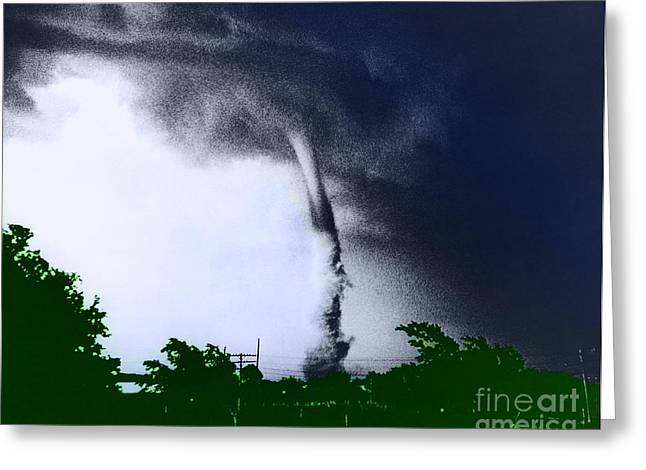 Funnel Clouds Greeting Cards - Tornado Greeting Card by Omikron