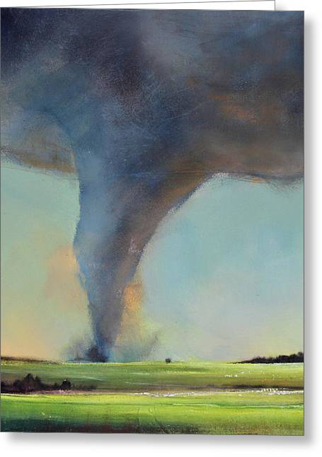 Storm Prints Paintings Greeting Cards - Tornado Touchdown Greeting Card by Toni Grote