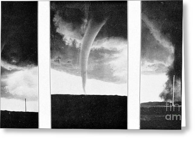 Funnel Clouds Greeting Cards - Tornadoes, 1930 Greeting Card by Science Source
