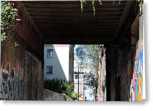 Toronto Alley Underpass Greeting Card by Merv Scoble