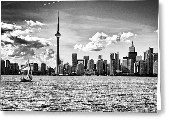 Lake Ontario Greeting Cards - Toronto Skyline 11 Greeting Card by Frank Iusi