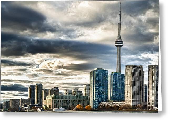 Lake Ontario Greeting Cards - Toronto Skyline 4 Greeting Card by Frank Iusi