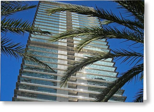 Torre Mapfre - Barcelona Greeting Card by Juergen Weiss