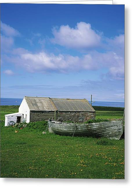 Domesticated Flower Greeting Cards - Tory Island, Co Donegal, Ireland Greeting Card by The Irish Image Collection