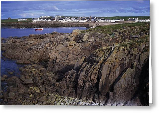 Scenes Of Pebble Beach Greeting Cards - Tory Island Village Greeting Card by The Irish Image Collection