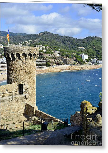 Color Photo Greeting Cards - Tossa de mar 05 Greeting Card by Arik Baltinester