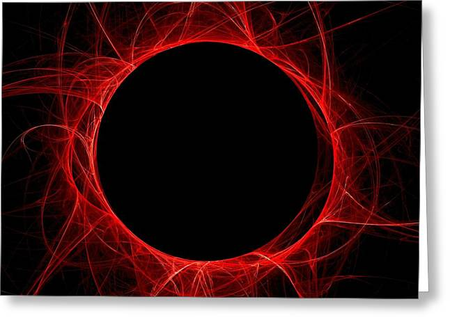 Fractal Eclipse Greeting Cards - Total Eclipse of the Sun Greeting Card by Renee Trenholm