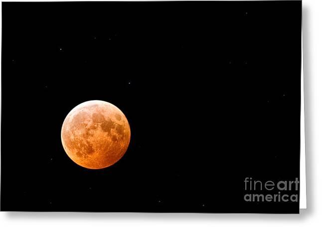 Total Lunar Eclipse Greeting Card by Matt Suess