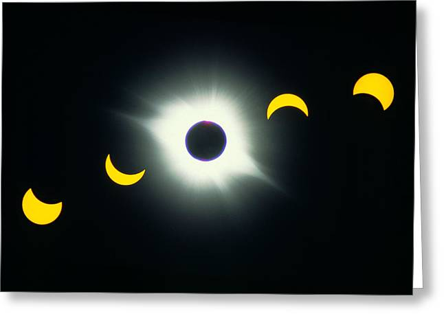 Solar Eclipse Greeting Cards - Total Solar Eclipse, 1991 Greeting Card by George Post