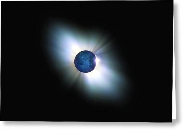 Solar Eclipse Greeting Cards - Total Solar Eclipse, Artwork Greeting Card by Detlev Van Ravenswaay