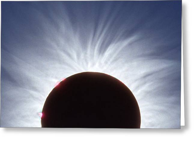 Total Solar Eclipse Greeting Card by Dr Fred Espenak