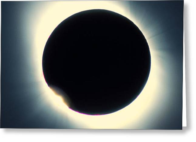 Total Solar Eclipse From Aruba, 26/02/1998 Greeting Card by David Nunuk