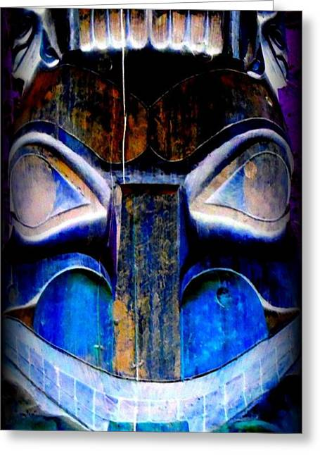 Wood Carving Digital Art Greeting Cards - Totem 24 Greeting Card by Randall Weidner