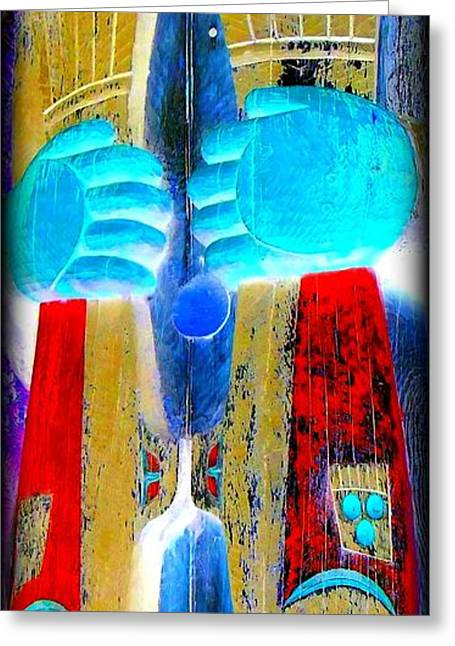 Fish Digital Art Greeting Cards - Totem 48 Greeting Card by Randall Weidner
