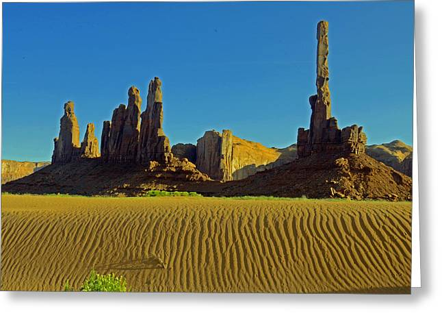 Yei Greeting Cards - Totem Pole and The Yei Bi Chei Greeting Card by Craig Ratcliffe