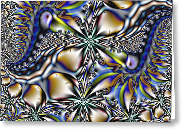Manley Greeting Cards - Toucans and Flowers - A Fractal Abstract Greeting Card by Gina Lee Manley