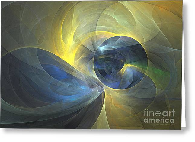 Interior Still Life Mixed Media Greeting Cards - Touch me - abstract art Greeting Card by Abstract art prints by Sipo