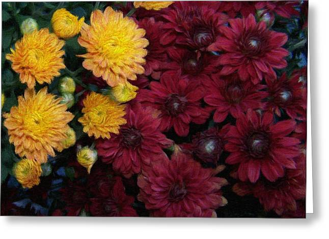 Photograph Pastels Greeting Cards - Touch of fall Greeting Card by Evelyn Patrick