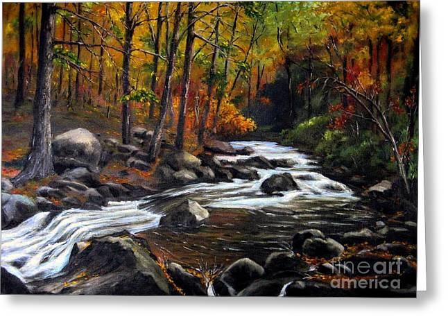 Touch Of Fall Greeting Card by Ronald Tseng