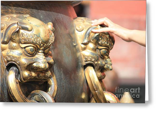 Good Luck Photographs Greeting Cards - Touch of Good Fortune Greeting Card by Carol Groenen