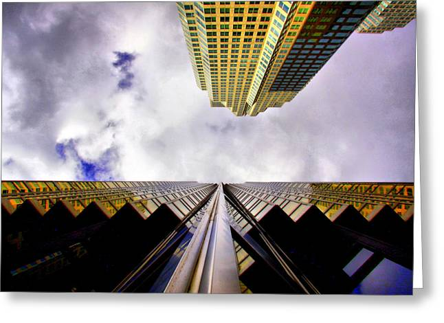 Vertigo Greeting Cards - Touch the sky Greeting Card by Russell Styles
