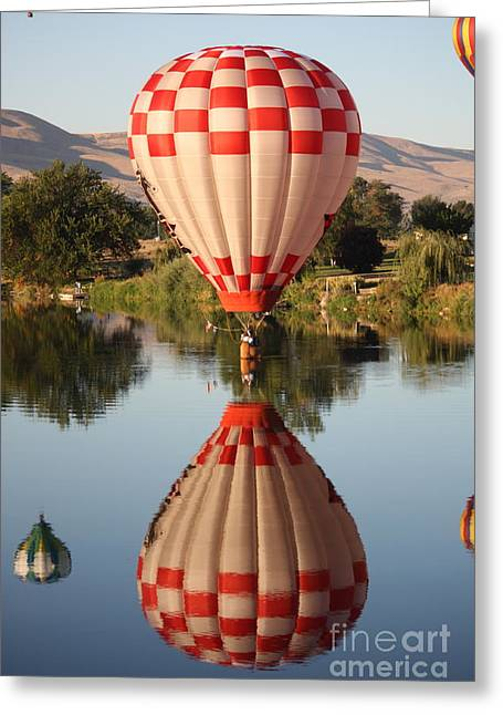 Prosser Balloon Rally Greeting Cards - Touchdown in Prosser Greeting Card by Carol Groenen